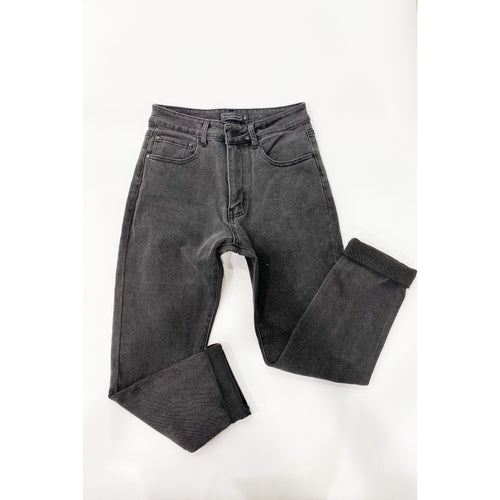 CC Mum Jean Washed Black