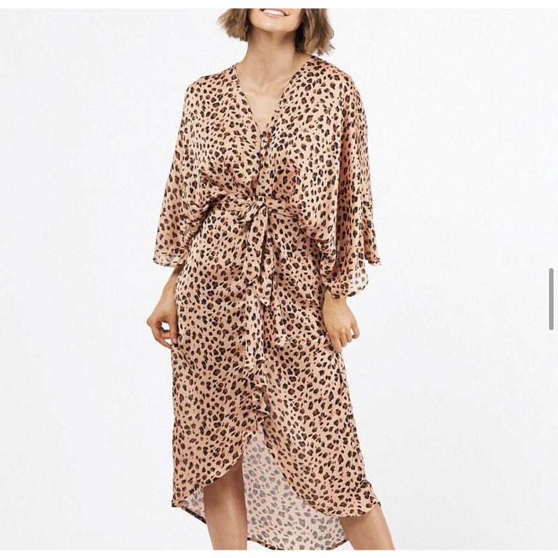 Hattie Leopard Print Dress