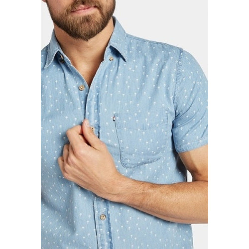 Palms S/S Shirt Blue