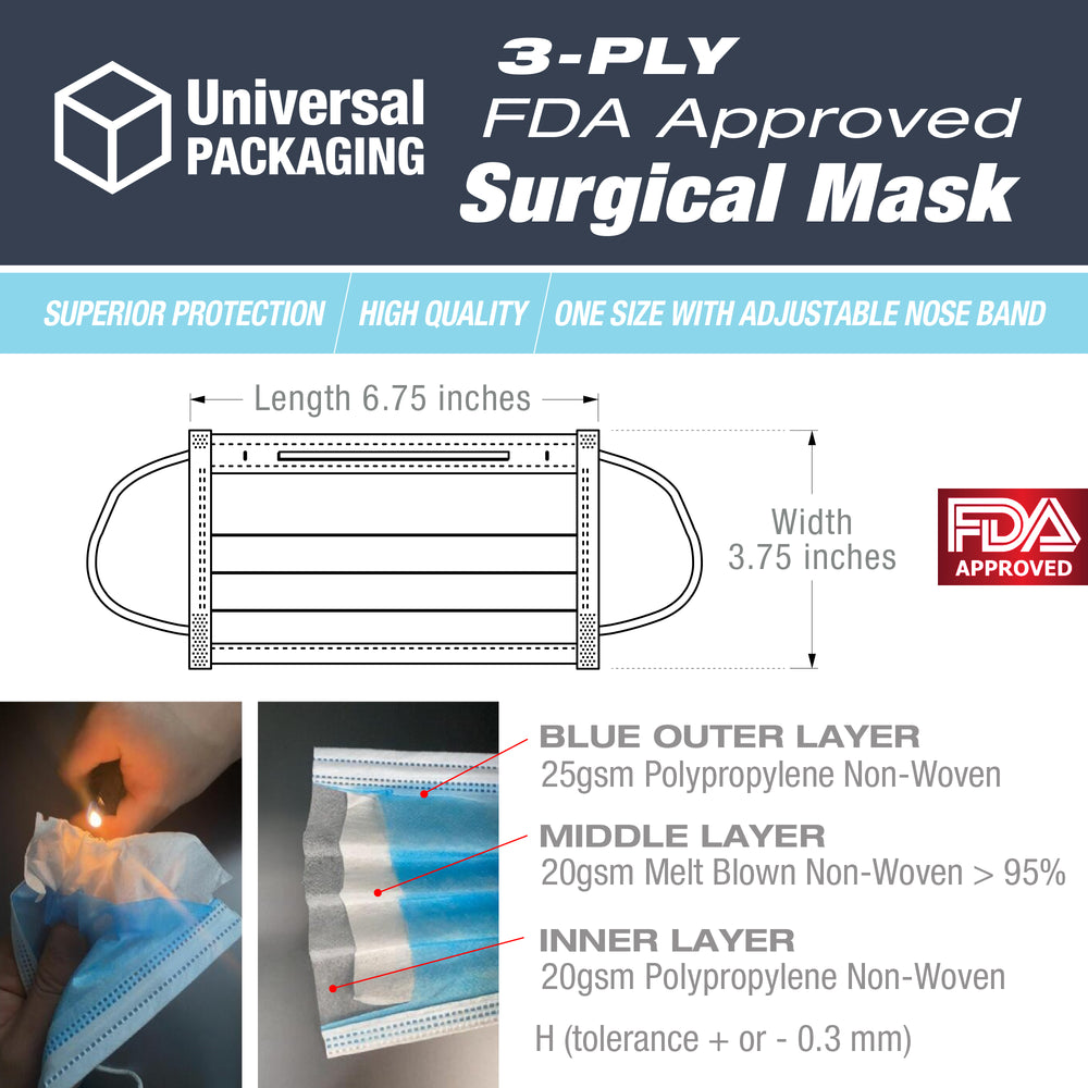 3-Ply FDA Approved Surgical Mask