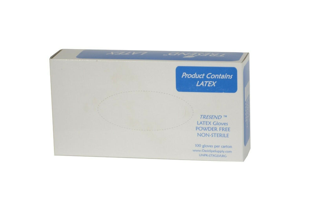 color: White ~ 1000 count ~ alt: 100 Disposable Latex Gloves per Box