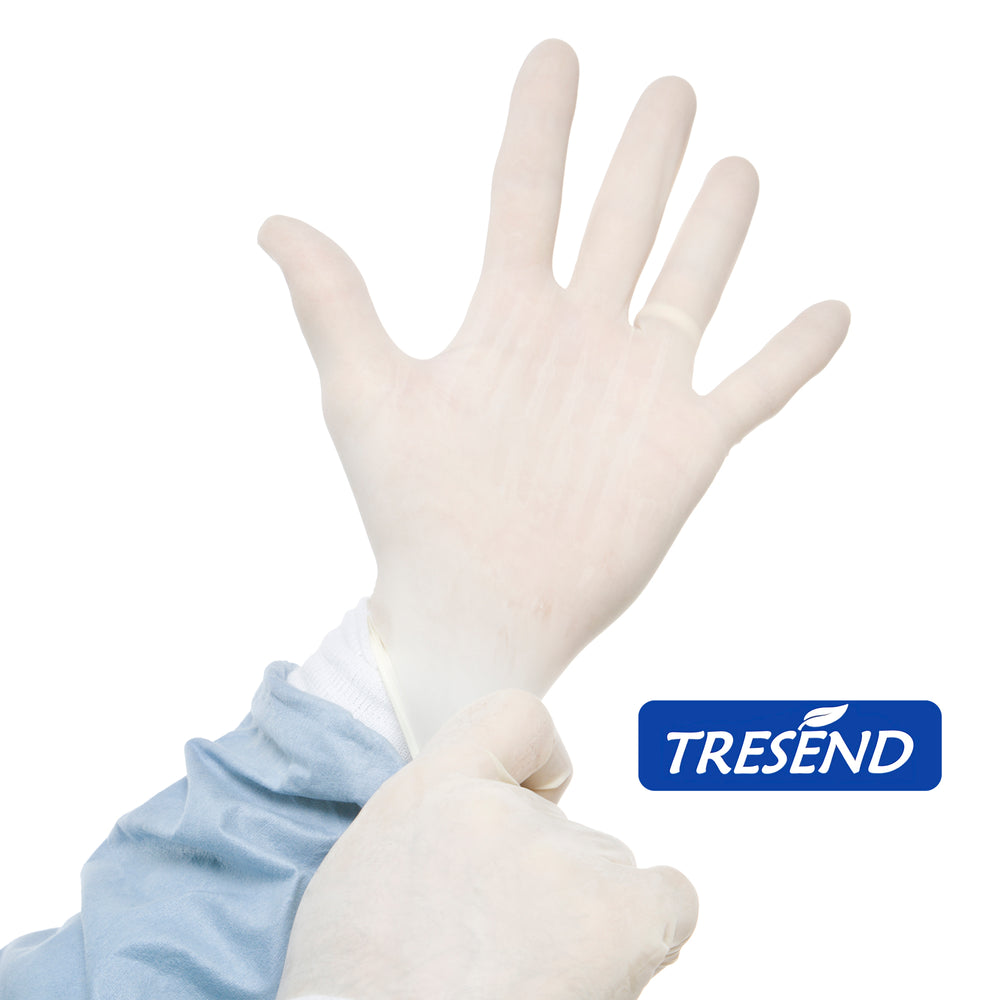 color: White ~ 1000 count ~ alt: Disposable Latex Gloves