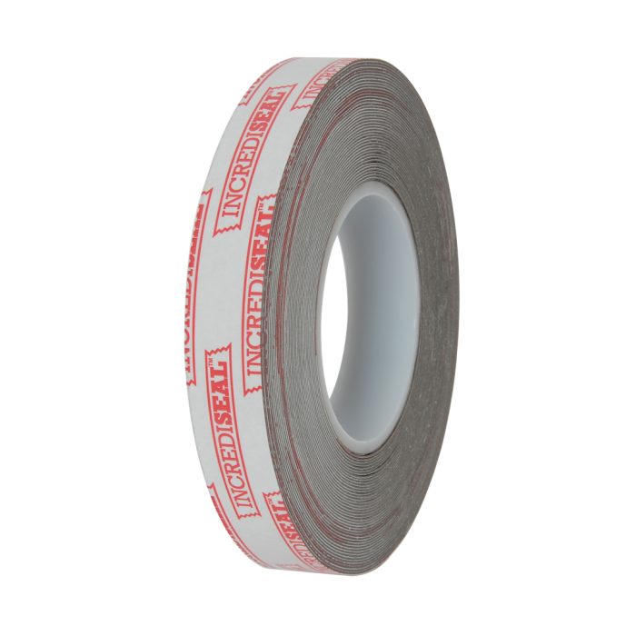 color: gray ~ alt: Double Sided Gray Permanent Bond Tape, .80mm, 18 Yards