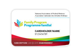 One Family Program subscription card