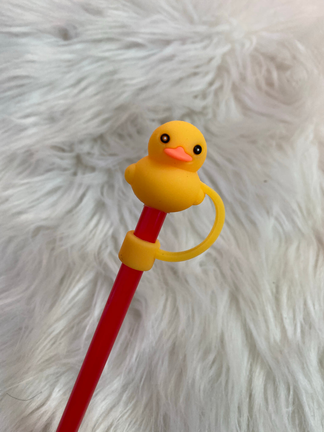 Rubber duck straw stopper