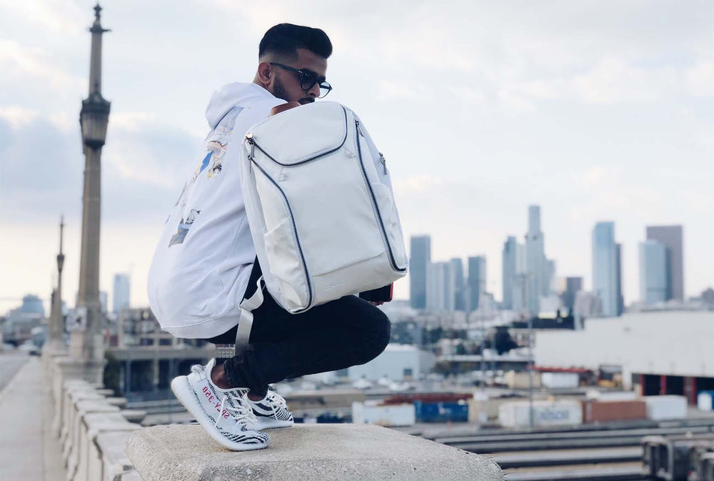 Dylan Sky Blanco DTLA backpack with everyday organization