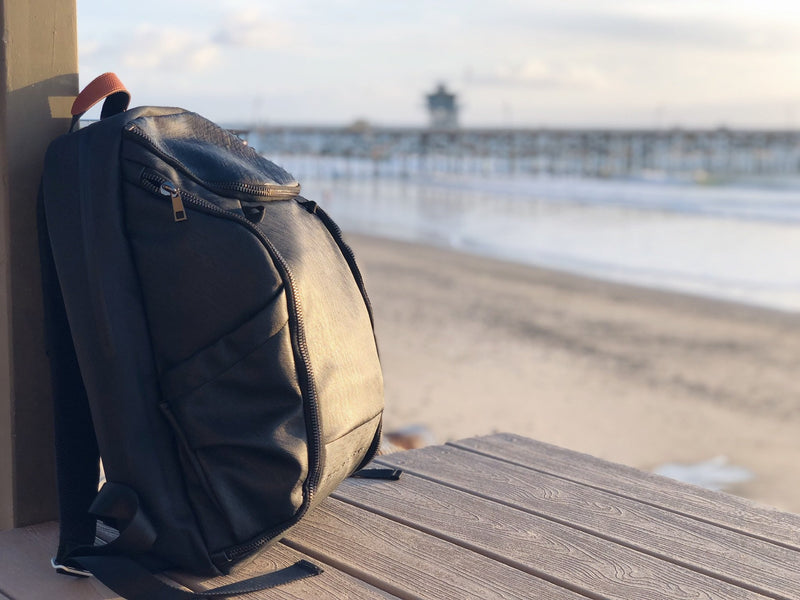 Rock the Extraordinary, Our DTLA backpack can survive the beach winds.