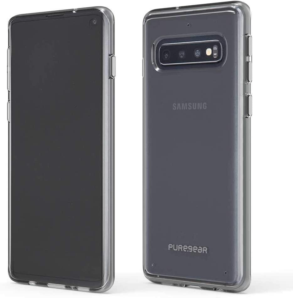 Slim Shell Case for The Samsung Galaxy S10 (Clear/Clear) Case Pure Gear