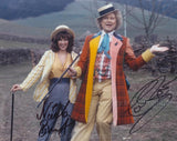 COLIN BAKER and NICOLA BRYANT as The 6th Doctor and Peri - Doctor Who