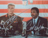 CARL WEATHERS and DOLPH LUNDGREN as Apollo Creed and Ivan Drago - Rocky
