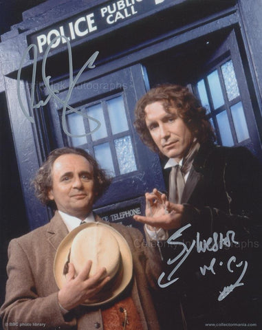 SYLVESTER McCOY and PAUL McGANN as The 7th and 8th Doctors - Doctor Who