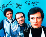 STEVEN PACEY, MICHAEL KEATING and PAUL DARROW as Tarrant, Villa and Avon - Blake's 7