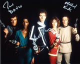 BLAKE'S 7 Triple Signed Cast Shot
