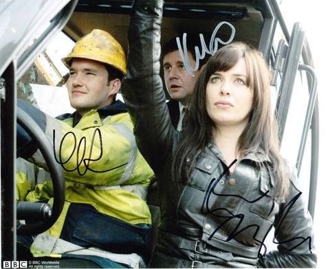 GARETH DAVID-LLOYD, EVE MYLES and KAI OWEN as Ianto, Gwen and Rhys - Torchwood