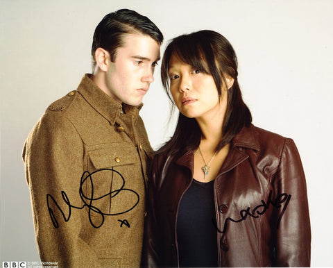 NAOKO MORI and ANTHONY LEWIS as Toshiko Sato and Tommy - Torchwood