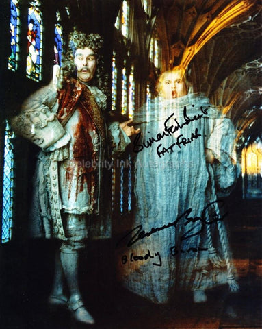 TERENCE BAYLER and SIMON FISHER BECKER as The Bloody Baron and The Fat Friar - Harry Potter