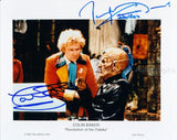 COLIN BAKER and TERRY MOLLOY as The 6th Doctor and Davros - Doctor Who