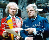 COLIN BAKER and GEOFFREY HUGHES as The 6th Doctor and Mr Popplewick - Doctor Who