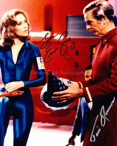 ERIN GRAY and TIM O'CONNOR as Wilma Deering and Dr. Elias Huer - Buck Rogers In The 25th Century
