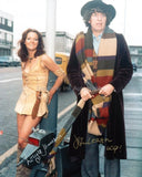 LOUISE JAMESON and JOHN LEESON as Leela and the Voice Of K-9  - Doctor Who