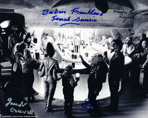 STAR WARS - Mos Eisley Cantina Quad Signed Photo