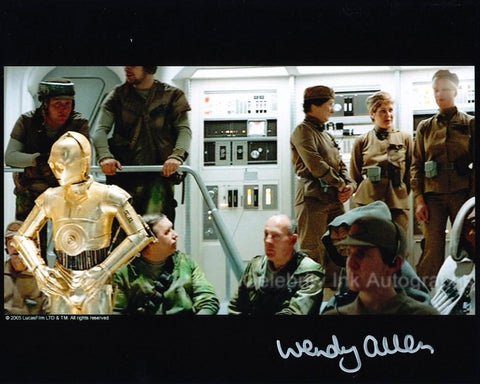 WENDY ALLEN as a Rebel Technician - Star Wars: Episode VI - The Return Of The Jedi