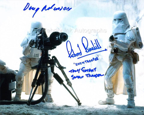 STAR WARS - Snowtroopers Triple Signed Photo