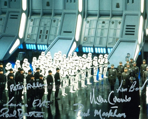 STAR WARS - Imperial Troops Multi Signed Photo - 6 Autographs