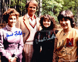 JANET FIELDING, MATTHEW WATERHOUSE and SARAH SUTTON as Tegan, Adric and Nyssa - Doctor Who