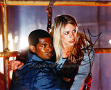 BILLIE PIPER and NOEL CLARKE as Rose Tyler and Mickey Smith - Doctor Who