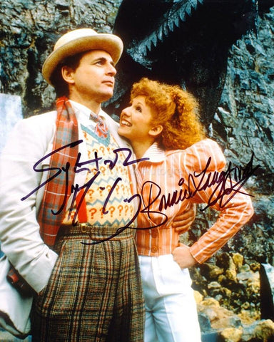 SYLVESTER McCOY and BONNIE LANGFORD as The 7th Doctor and Melanie Bush - Doctor Who