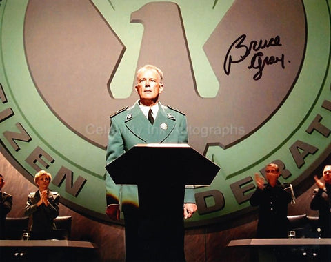 BRUCE GRAY as Sky Marshall Dienes - Starship Troopers