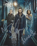 BEING HUMAN Triple Autographed Photo - Tovey, Turner & Crichlow