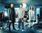 BEING HUMAN Triple Autographed Photo - Tovey, Turner & Crichlow - (2)