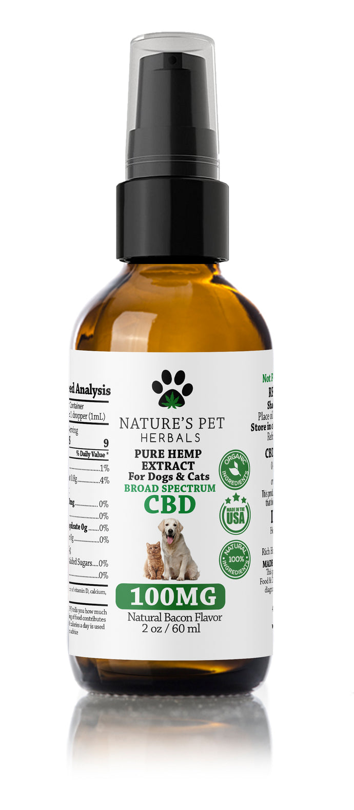 Pet Ease 100mg CBD 2oz Pump