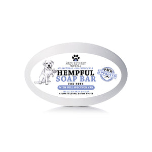 Hempful soap bar for pets with full spectrum CBD