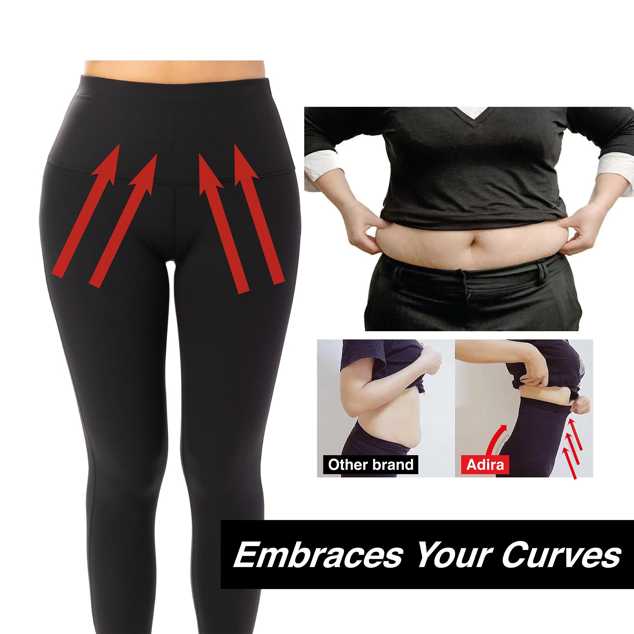 High Waist Workout Leggings-Adjustable