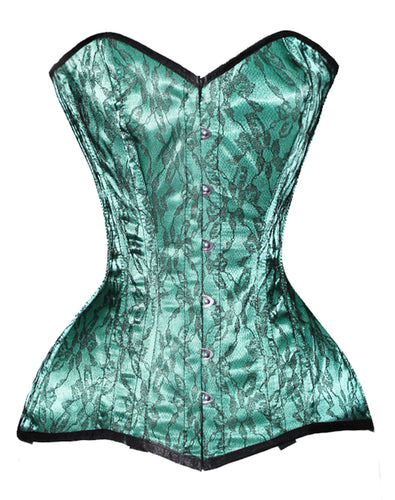 Heavy Duty 26 Double Steel Boned Waist Training Satin Overbust Corset #CST2-SA