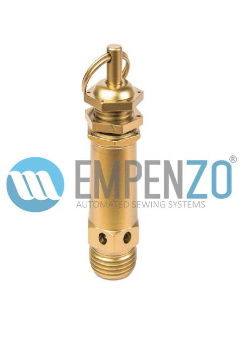 1/2 Safety Valve For EPZ SO -1403 Trouser Side Seam Opening Table With Penumatic Chain Stretching Without Steam Boiler - Empenzo Automated Sewing Systems