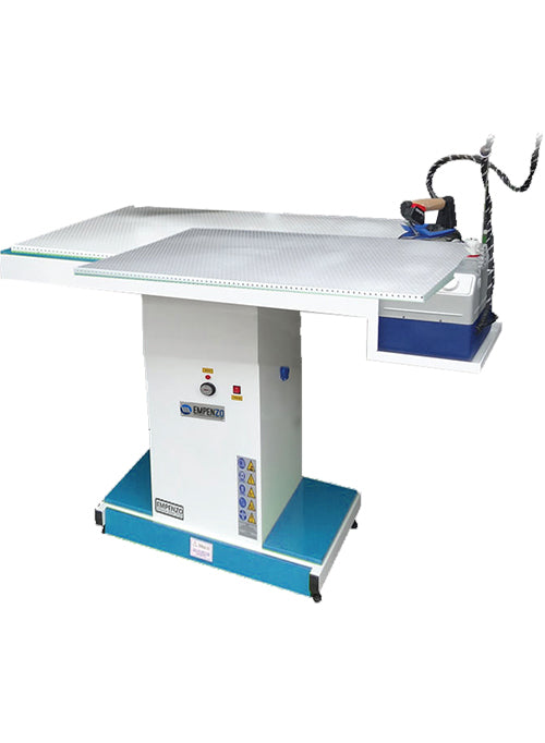 Wide Type Vacuum Ironing Table with iron rest - Empenzo Automated Sewing Systems