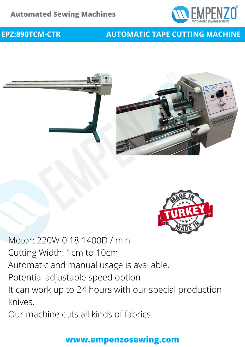 Empenzo Tape Cutting Machines - Empenzo Automated Sewing Systems