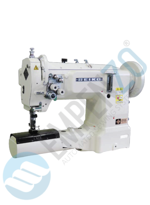 LCWN two needle series High speed, Cylinder bed, Large Vertical axis hook, Compound feed Compound feed and walking foot, Reverse stitch, Lockstitch machines. - Empenzo Automated Sewing Systems