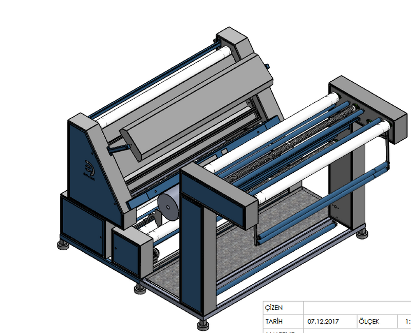 Open Width  Knited Fabric Inspection Machine Working Width: 2400 mm- Roll Diameter: 500 mm - Empenzo Automated Sewing Systems