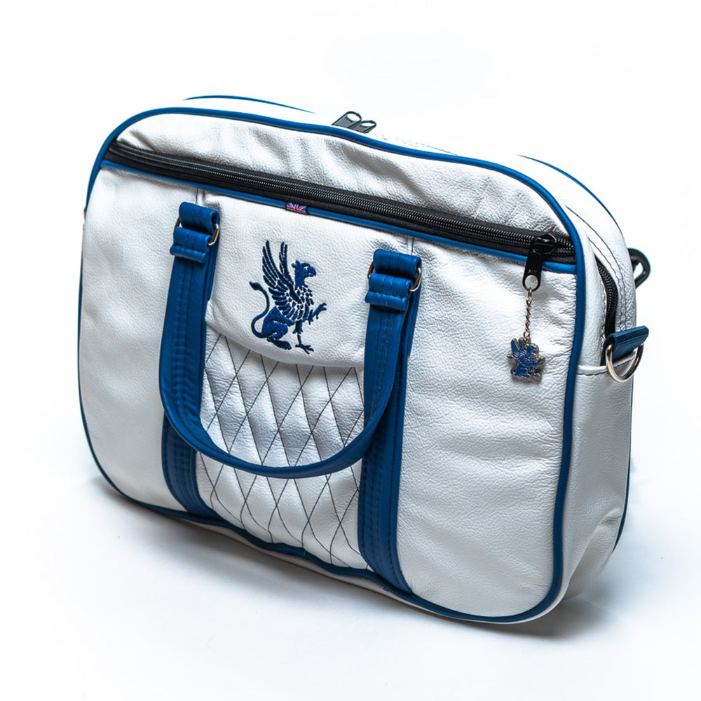 The Messenger Bag White Leather