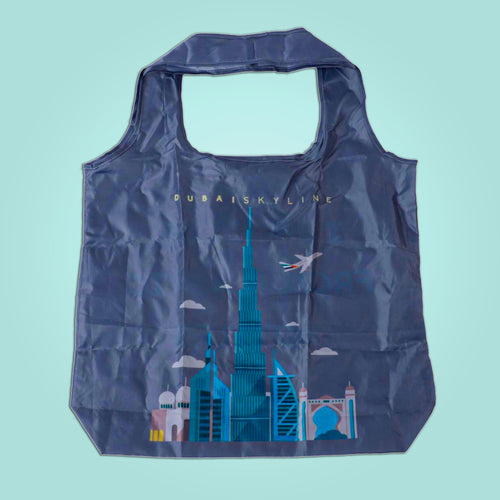 Foldable Shopping Bag (Dubai Skyline)