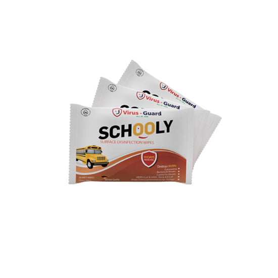 Schooly Disinfection Wipes - 20 Wipes Per Pack