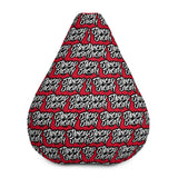 Red Stanced Society Bean Bag Chair w/ filling