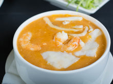 Load image into Gallery viewer, Al Aktham special soup with grilled bread