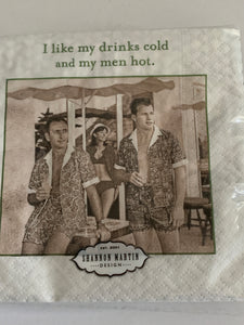 Beverage Napkins - Men hot