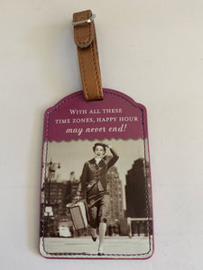 Luggage Tag - Time Zones, Happy Hour